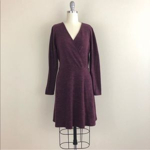 Candie's Faux Wrap Sweater Dress